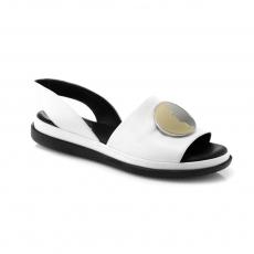 белые  женские открытые туфли
