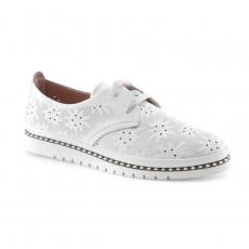 белые  женские повседневные туфли