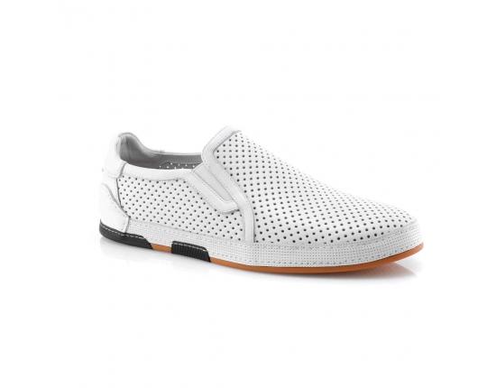 белые  мужские открытые туфли