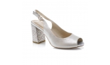 Цвет слоновой кости  женские открытые туфли