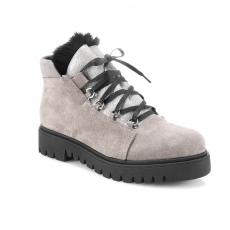Цвет слоновой кости  женские зимние ботинки