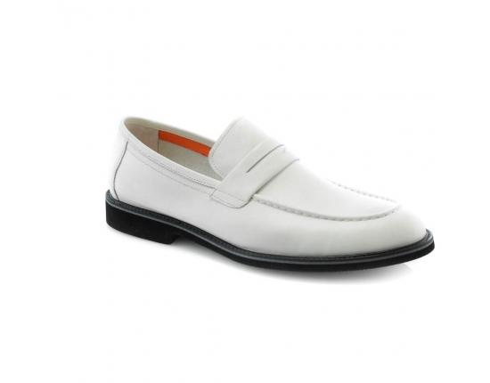 Цвет слоновой кости  мужские  классические ботинки