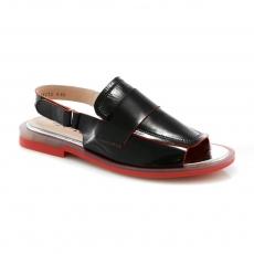 черные  женские открытые туфли