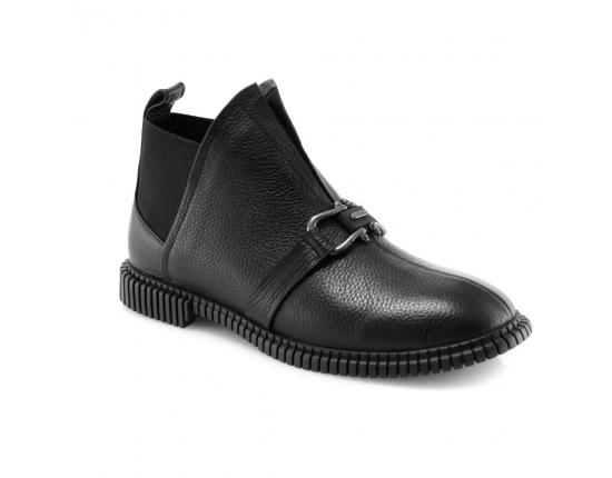 черные  женские полуботинки