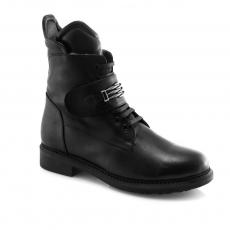 черные  женские зимние ботинки