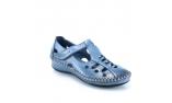 синие  женские открытые туфли