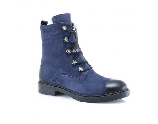 синие  женские зимние ботинки