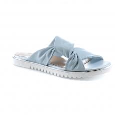 синие  женские сандалии