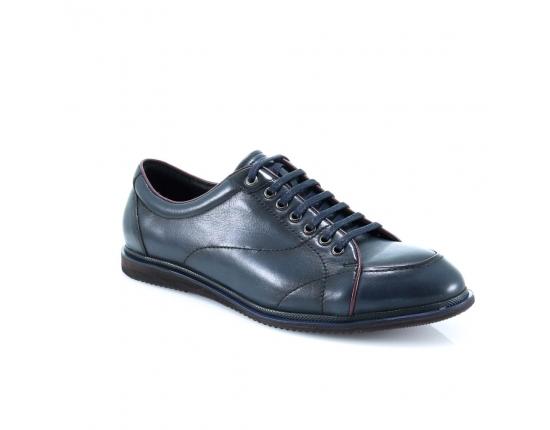 синие  мужские  повседневного стиля ботинкм