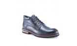 синие  мужские  зимние ботинки