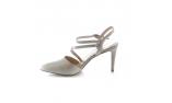 серые  женские открытые туфли