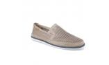 серые  мужские открытые туфли