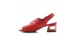 красные  женские открытые туфли