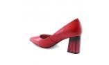 красные  женские выходные туфли