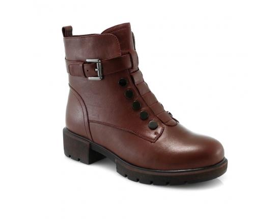 красные  женские зимние ботинки