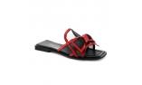 красные  женские сандалии