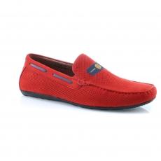 красные  мужские открытые туфли
