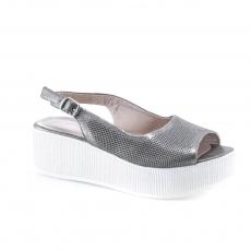 коричневые  женские открытые туфли