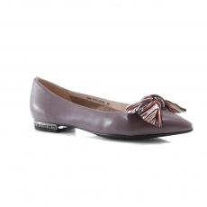коричневые  женские повседневные туфли