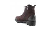 коричневые  женские зимние ботинки