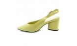 зеленые  женские открытые туфли