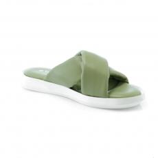 зеленые  женские сандалии